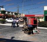 Choque y volcadura en bulevar Morelos; dos lesionadas