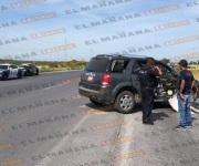 Arroja tres lesionados tremendo choque en carretera a Monterrey