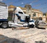 Más de 100 mil pesos en daños deja choque de tráiler en San Fernando