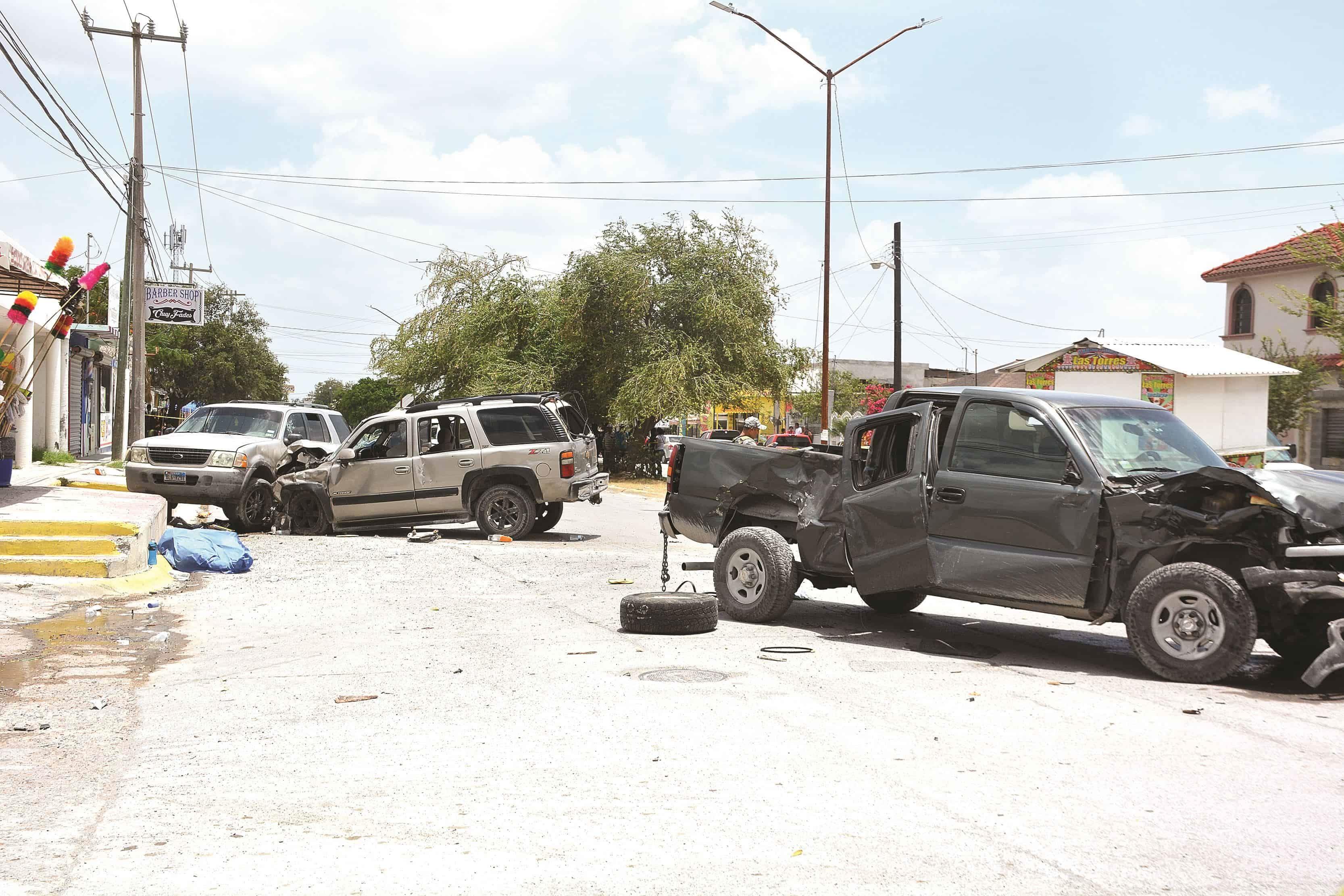 FRENO. La camioneta tripulada por civiles armados causó un choque que terminó en una tragedia.