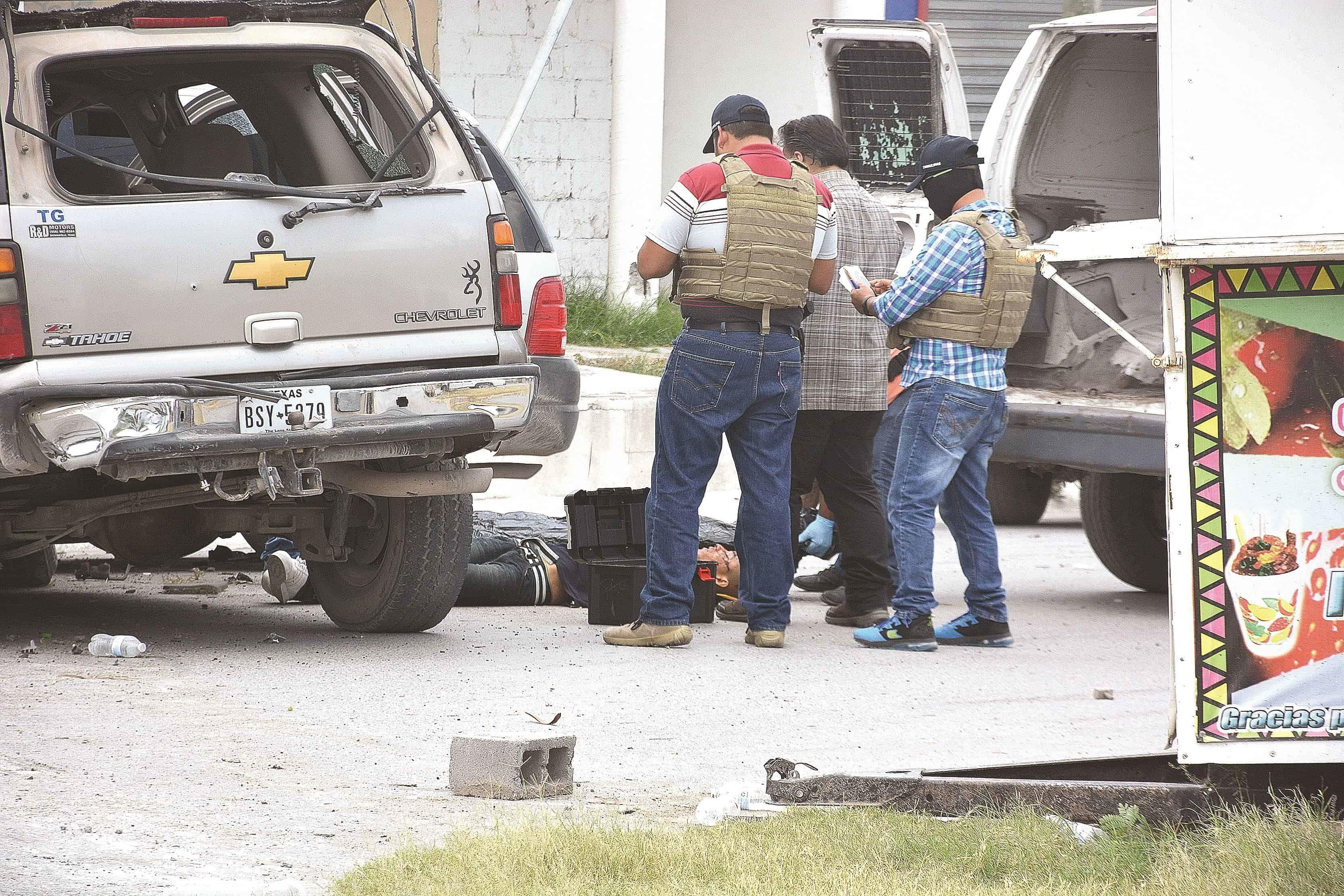 SICARIO. El delincuente abatido por los policías.
