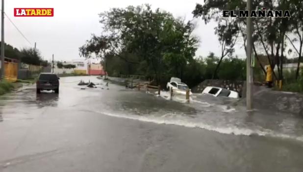 Diluvio ahoga Reynosa