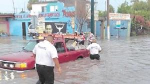 Caos e inundaciones