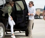 Melania Trump visita a niños migrantes detenidos en Texas