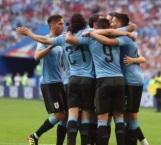 Uruguay le pega 3-0 a Rusia