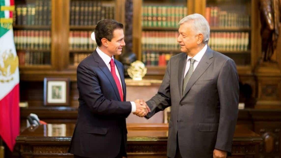 El virtual ganador de la elección presidencial, Andrés Manuel López Obrador, en Palacio Nacional para reunirse con el Presidente Enrique Peña Nieto