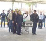 Rinden homenaje póstumo a policía caído en el deber