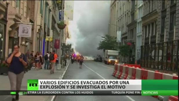 Evacuan zona de Manhattan debido a la explosión de una tubería de vapor