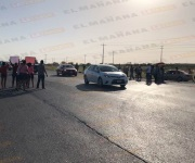Bloquean carretera por crisis de agua
