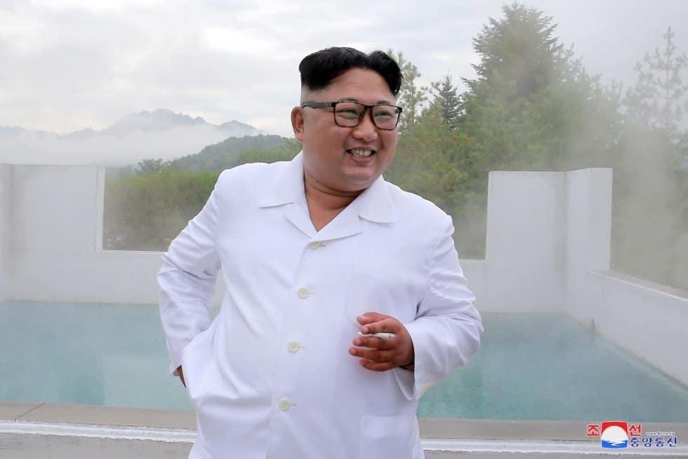 Kim Jong Un en Wonsan-Kalma, en Pionyang (Corea del Norte).