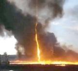 Alucinante fenómeno natural que impactó a bomberos