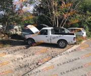Persecución y balacera deja 4 vehículos dañados