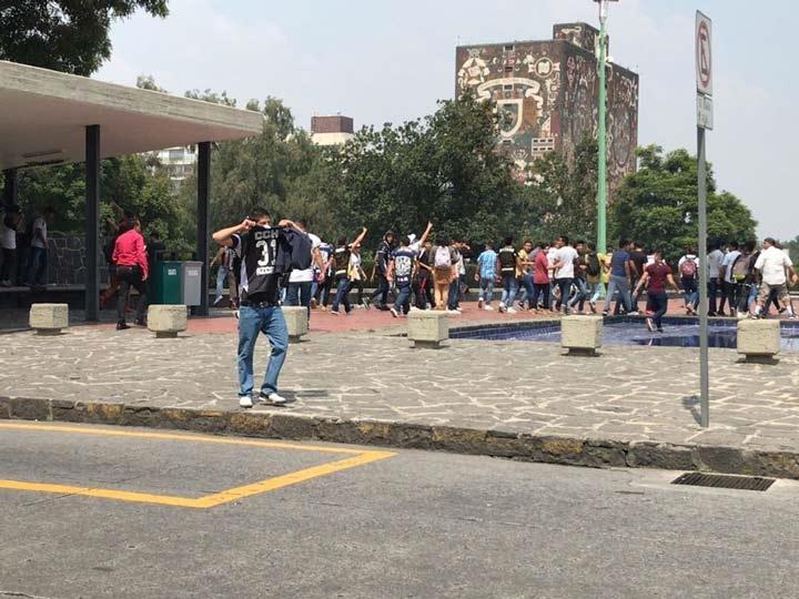 Los disturbios se registraron la tarde de este lunes en la explanada de la Rectoría de la Universidad Nacional Autónoma de México (UNAM)