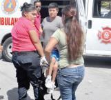 Bebé lesionado en choque por alcance