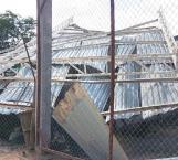 Tumban vientos techumbre y causa daños
