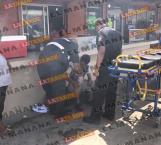 Joven motociclista herido en choque