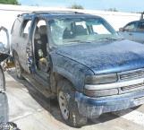 Aseguran camioneta con balazos