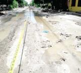 Por falta de dinero paran obra de drenaje en la Manuel Tárrega