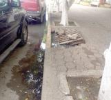 Reportan 2 fugas de agua en plaza
