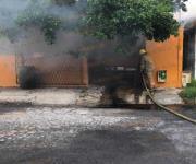 Causa alarma incendio de camioneta