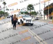 Choque en bulevar Morelos col Rodríguez