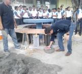 Ponen primera piedra de la plaza del estudiante en el ITACE