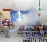 Fumigan 80 escuelas y jardines de niños para combatir el dengue