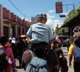 Migrantes salen de Tapachula, se dirigen a Huixtla