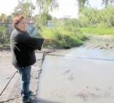 Se agudiza fuga de aguas negras en El Anhelo, denuncian vecinos