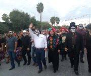 Desfile del Día de Muertos en Río Bravo