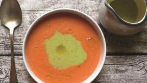 Sopa de dos tomates