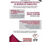 Conferencia de formación política a militantes de Morena para hoy