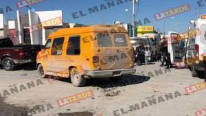 Choca vehículo escolar; 7 menores lesionados