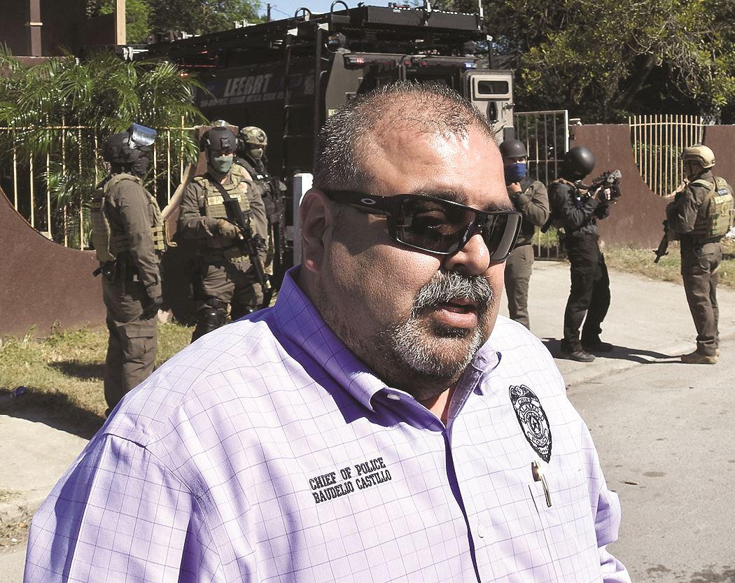 Baudelio Castillo. Jefe de Policía de la ciudad de Álamo.