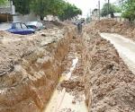 Reparan drenaje en la Longoria