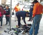 Responde ciudadanía a colecta de zapatos