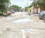 Quedan calles intransitables tras las lluvias