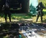 Aseguran armamento y equipo táctico en Iguala