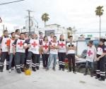 Protestan los paramédicos de la Cruz Roja