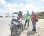 Enseñaba ruta y peligro de andar en motocicleta