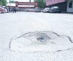 Se hunde asfalto y no hacen nada