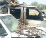 Arden vehículos asegurados por la PGJ estatal