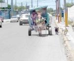Afectan vialidad los carretoneros