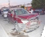 Crispante accidente, una herida
