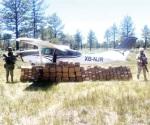 Aseguran avioneta y 408 kg de mariguana