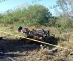 Queda automóvil a 80 metros del encontronazo y después arde en carretera a San Fernando