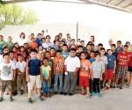 Disfrutan niños Campamento Pannarti