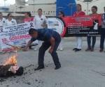 Protestan eventuales de Hospital Civil de Tampico