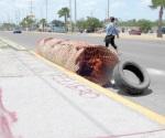 Aparece hueco en carretera a San Fernando