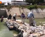 Reparan compuerta de Loma Linda por saturación de basura